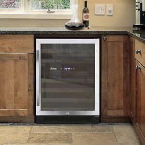 Vinotemp 46-Bottle Dual Zone Wine Cooler in Stainless Steel Trim