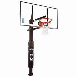 New, Spalding In-Ground Basketball System  Retail is $1400  tax