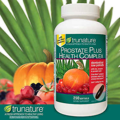 Trunature Prostate Plus Health Complex 250 Softgels  Saw Palmento With Zinc