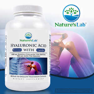 Nature's Lab Hyaluronic Acid with BioCell Collagen, 180 Vegetarian Capsules