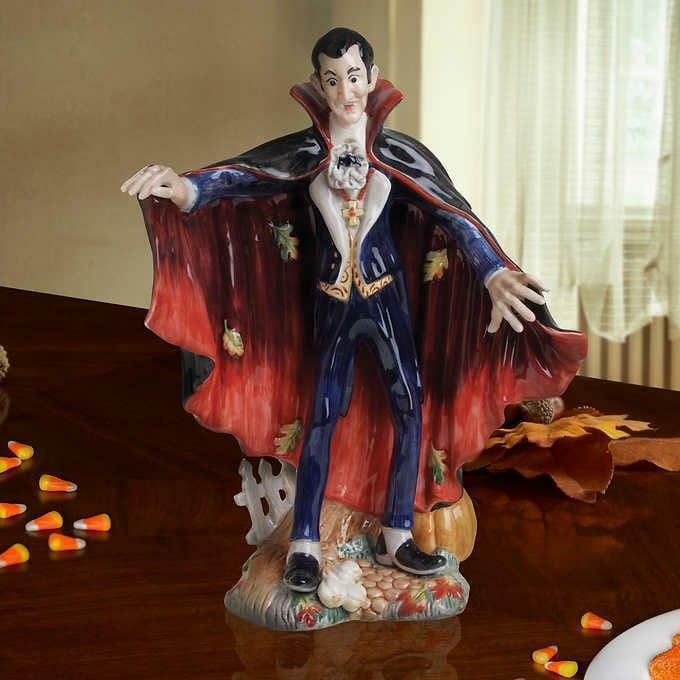 Fitz & Floyd Dracula Figurine Halloween Harvest Ceramic Hand-Painted Creepy