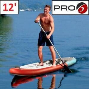 NEW PRO 6 INFLATABLE PADDLE BOARD P6-360 248916873 STAND UP TEAL RED 12 x 32 x 6 OUTDOOR WATER SPORTS