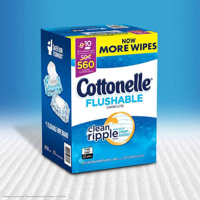 Купить Cottenelle - Cottonelle Fresh Flushable Moist Wipes 560 Ct.