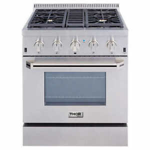 "Thor Kitchen Gas Range, 30"", 36"", 48"" New and Open Box"