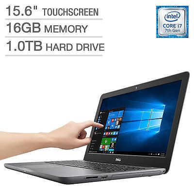 Dell Inspiron 15 5000 Laptop   15 6   I7 7500U  16Gb  1Tb   Fhd Touch  Amd 4Gb