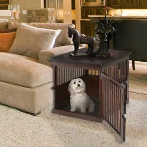 ~BRAND NEW IN BOX~ Wooden End Table w/ Built-In Dog Crate & Cage