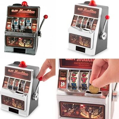 Hucha Maquina Tragaperras 19 x 13,5 cm,echa monedas,juega y obtén premio,juego