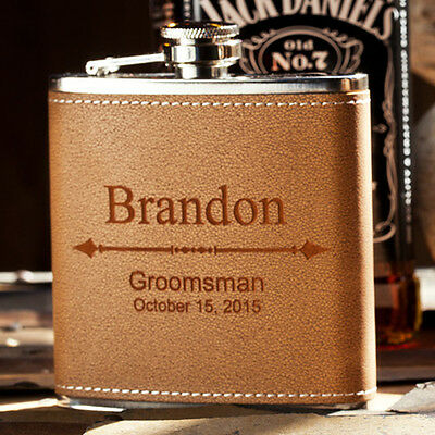 Custom Engraved Wedding Gift, Bachelor Party Favor, Personalized Groomsman Flask