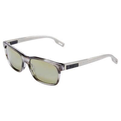 Maui Jim EH BRAH HT284-27L Light Charcoal Sunglasses Polarized Green Lenses (Maui Jim Green Sunglasses)