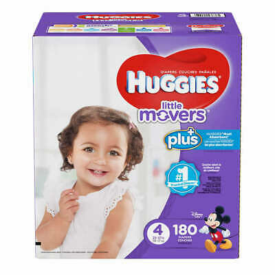 Huggies Plus Diapers Size 4: 22-37lbs, 180ct - Free Shipping - -