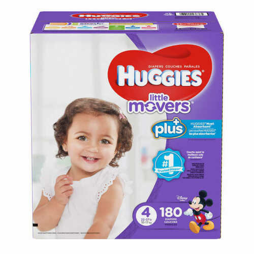 Huggies Plus Diapers Size 4: 22-37lbs, 180ct - Free Shipping - New!