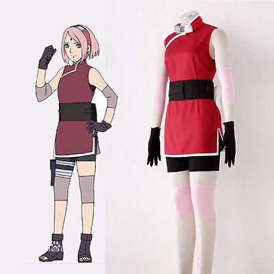 THE MOVIE THE LAST Naruto Haruno Sakura 3rd Clothes Girls Cosplay Costume Women for sale  Shipping to Canada