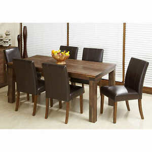 7-pc. set includes: Table and 6 chairs