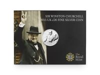 SIR WINSTON CHURCH £20 FINE SILVER COIN COMMEMORATION OF THE 50th ANNIVERSARY OF HIS DEATH.