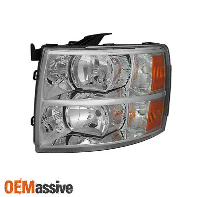 Fit 2007-2013 Chevy Silverado 1500 2500 3500 Driver Side Headlight Replacement
