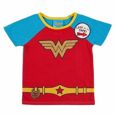 DC COMICS WONDER WOMAN CAPE 2 piece PAJAMAS SIZE 2T 3T 4T 5 6 6X NEW! (Toddler Wonder Woman Pajamas)