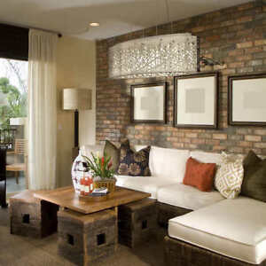 *NEW* Crystal Semi Flush Pendant Dining /Living Room Light
