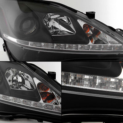 Owner Fits 2006-2013 Lexus IS250 IS350  Black LED DRL Projector Headlights Left+RIght