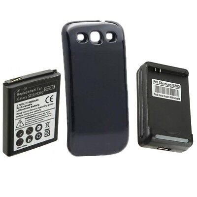 EXTENDED 4300mAh Battery + Insure + Charger for Samsung Galaxy S3 i9300 i535 i747