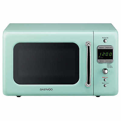 Daewoo Retro 0.7 CuFt 700W Microwave KOR-7LRE  LIGHT GREEN  NEW