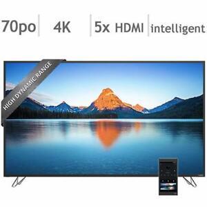 Télévision LED TV 70'' POUCE M70-D3 4K ULTRA UHD HDR 240hz GOOGLE CHROMECAST Wi-Fi SmartCast Vizio - BESTCOST.CA