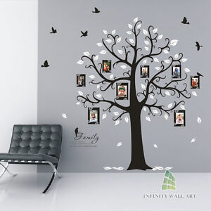 Family-Tree-Birds-Photo-Frame-Quotes-Tree-Wall-Stickers-Wall-Art-Decals-PD538