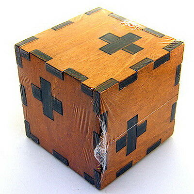 Fun & Difficulty Wooden Swiss Secert Puzzle Box Wood Brainteasor Toy