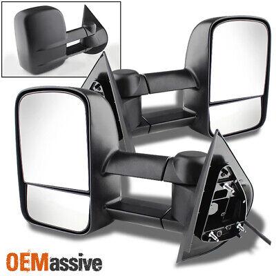Fit 2007-2013 Silverado Sierra Extendable Tow Trailer Power Side Mirrors L+R