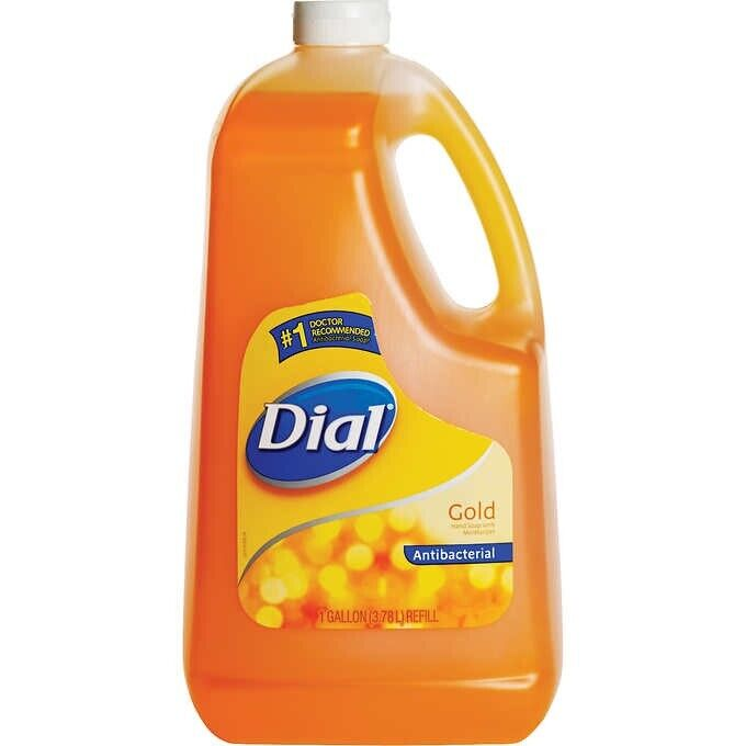 Dial Liquid Hand Soap Refill, Gold, 1 Gallon ~Free Shipping~