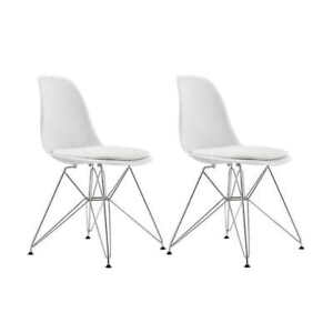 Accent, Dining White Chair 2-pack iconic modern design