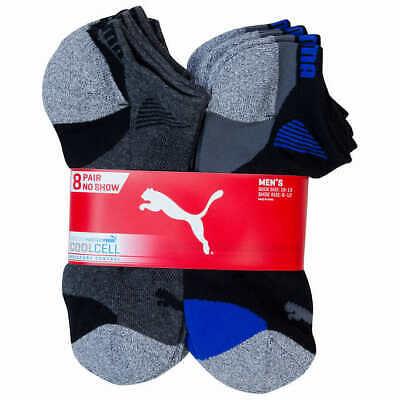 Puma Men's Cool Cell No Show Socks 8-Pair Shoe Size 6-12 NWT
