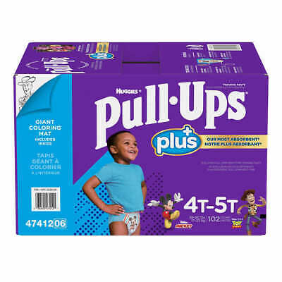 Huggies Pull Ups Training Pants For Boys Size 4T-5T: 38-50lbs, 102ct  CWDS