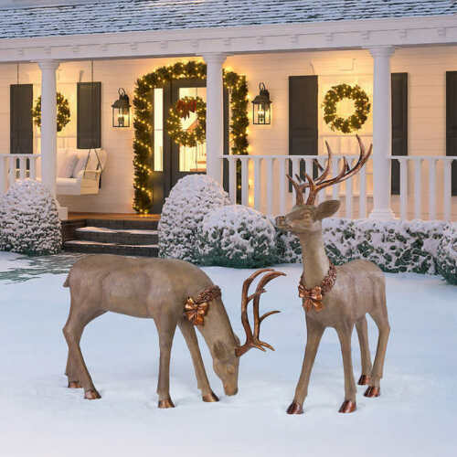 Outdoor Standing Deer, Set of 2 BIG SIZE,. ORIGINAL SIZE,. BRAND NEW, OUT OF BOX