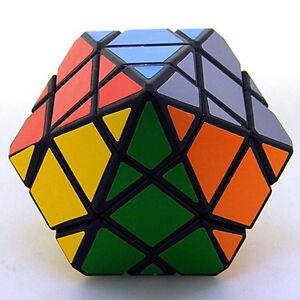 Black Hexigonal Dipyramid 12-Sided Diamond Crystal  Magic Cube Twist Puzzle