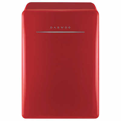 Used, Daewoo Retro 2.8 CuFt Compact Refrigerator, Mini Fridge, Red, NO TAX for sale  USA