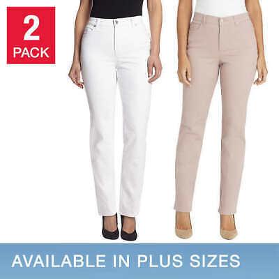 Gloria Vanderbilt Ladies' Amanda Jeans, 2 Pair; WHITE, PINK (Select Size) MISSY
