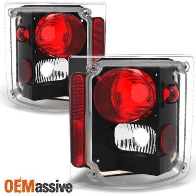 Fit 1978-1991 GMC Jimmy Chevy 1500 Blazer Pickup Black Tail Lights Replacement