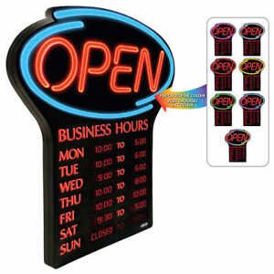 """NEWON LED """"OPEN"""" Sign - English Only"""