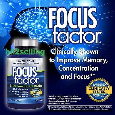 Focus Factor Brain Supplement  150 Tablets Exp Date 12 2019 Memory Concentration
