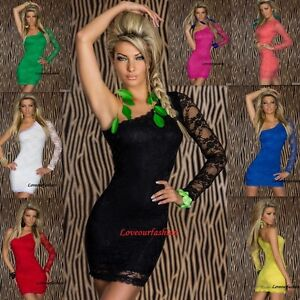 SEXY-MINI-DRESS-PARTY-EVENING-COCKTAIL-WEDDING-LACE-TOP-CLUBBING-UK-SIZE-8-10