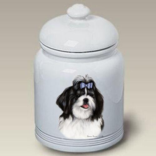 Shih Tzu Black & White Treat Jar