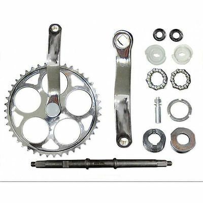 44T sprocket Wide Crank Assembly Kit -3pcs, for 4-stroke motor,Gas Motor Bicycle