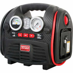 Portable Jump Starter and Air Compressor ( 1,000 Peak Amps )