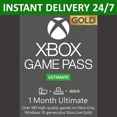 Xbox Live 1 Month Gold & Game Pass Ultimate Membership (2x 14...