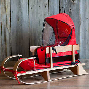 Brand new baby sleds with cushion and weather protecter