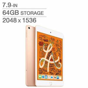 Apple iPad Mini 5th Generation 7.9 64GB A12 Bionic Wi-Fi White / Gold MUQY2VC/A - WE SHIP EVERYWHERE IN CANADA !