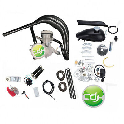 2 stroke gas motor engine kit Gas Motorized Bicycle CDHPOWER CDH66 muffler black