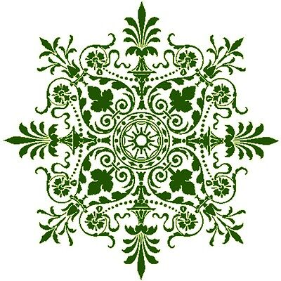 30 Custom Green Victorian Snowflake Personalized Address Labels