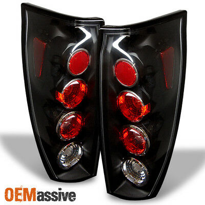 2002 2003 2004 2005 2006 Chevy Avalanche Pickup Black Tail Lights Brake Lamps