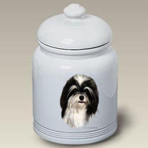 Havanese Black & White Treat Jar